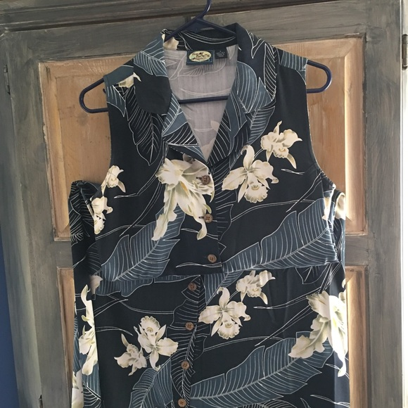 Tommy Bahama Dresses & Skirts - Tommy Bahama Floral Long Silk Dress Size Small